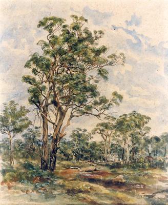 Tree and Church Scene