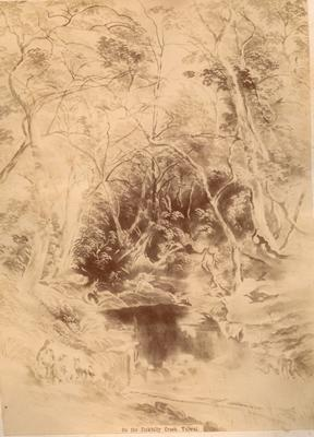 On the Jinkbilly Creek, Yalwal (No. 15 from the series 'Scenery of Shoalhaven: facsimiles in photography of eighteen original drawings', 1892)