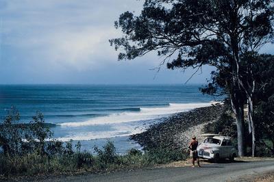 Bob McTavish and the '48 Holden, Noosa - 1966
