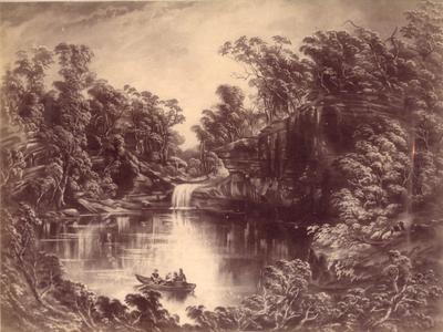 The Basin, Cabbage Tree Creek, Looking East (No. 12 from the series 'Scenery of Shoalhaven: facsimiles in photography of eighteen original drawings', 1892)